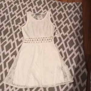 Charlotte Russe white lace dress
